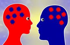 Two way communication Stock Illustration