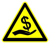 Caution Bribery Stock Illustration