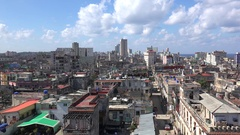 Panorama view of the central Havana city with the Paseo del Prado. Cuba Stock Footage