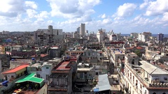 Bird's-eye view of the central Havana city. Cuba Stock Footage