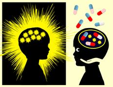 Epilepsy Medication Stock Illustration