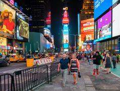 Night scene at Times Square in New York City Kuvituskuvat