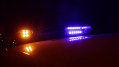 Rotating Lights on Police Car Stock Footage