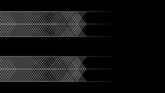 Flowing geometric pattern in graphic style - 05 - white on black (FULL HD) Stock Footage