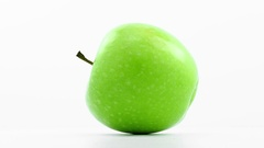 Green  apple  rotates in loop  Stock Footage
