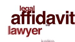Affidavit animated word cloud. Stock Footage