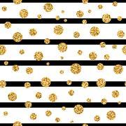 Gold polka dot confetti seamless pattern Stock Illustration