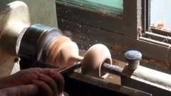 Turning blanks for wooden vases Stock Footage