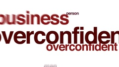 Overconfidence animated word cloud. Stock Footage
