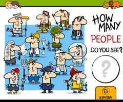 Counting people activity Stock Illustration