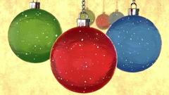 "Tree toys, snow and appear text on swedish ""Gott Nytt År!"" (Happy New Year!) Stock Footage"