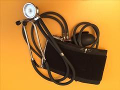 Stethoscope, blood pressure meter medical equipment isolated Kuvituskuvat