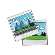 Isolated picture of landscape design Stock Illustration