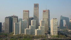 Beijing Central Business & Financial District, Beijing, China Stock Footage