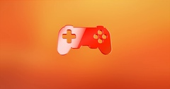 Game Console Red 3d Icon Stock Footage