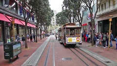 Powell Station Cable Car Stock Footage