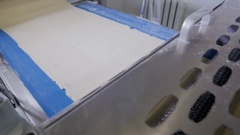 Bread automated Production line. Industrial conveyor With Dough moving Stock Footage