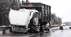 Truck accident Stock Footage