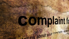 Complaint form grunge concept Stock Footage