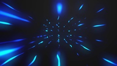 Blue glowing lights abstract black background Stock Footage