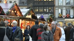 Best Christmas Market Atmosphere Stock Footage
