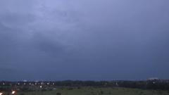 Flash of lightning Stock Footage