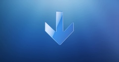 Arrow Down Blue 3d Icon Stock Footage