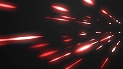 Red glowing lights abstract black background Stock Footage