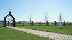 German military memorial cemetery in Russia Stock Footage