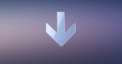 Arrow Down Silver 3d Icon Stock Footage