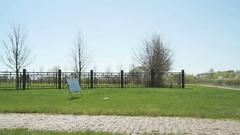 German military memorial cemetery in Russia Stock Footage