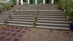 Wide Stone Stairs Lead to Muslim Mosque in Saigon Stock Footage