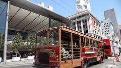 Apple Store cable car Stock Footage