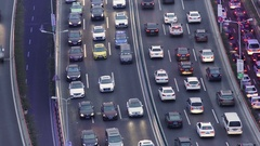 Traffic jam in Shanghai, China. Time lapse Stock Footage