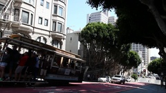 Cable Car Powell-Hyde Stock Footage
