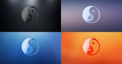 Yin and yang 3d Icon Stock Footage
