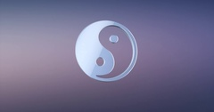 Yin and yang Silver 3d Icon Stock Footage