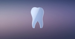 Tooth Silver 3d Icon Stock Footage