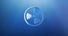 Radiation Blue 3d Icon Stock Footage
