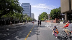 Bloor street in downtown toronto in 4k during the summer Stock Footage