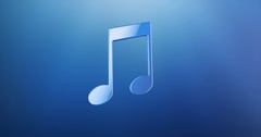 Tunes Blue 3d Icon Stock Footage