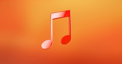Tunes Red 3d Icon Stock Footage