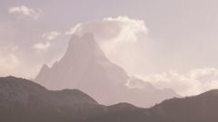Ama Dablam Peak Sunrise Time Lapse Zoom 4K Stock Footage