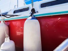 Fender aboard yacht boat Stock Photos