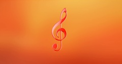 Music Red 3d Icon Stock Footage