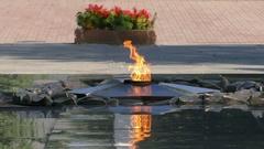 Eternal Flame Almaty 4K Stock Footage