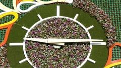Flower Clock Almaty 4K Stock Footage