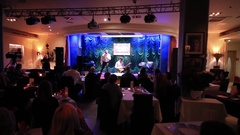 Yugorsky Alexander singing on scene jazz club Kino Arkistovideo