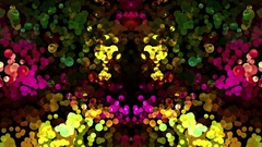 The chaotic motion of bubbles. Strong multicolor space background. Abstract look Stock Footage