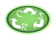 Recycle Symbol with Corporate Social Responsibility Concepts Stock Illustration